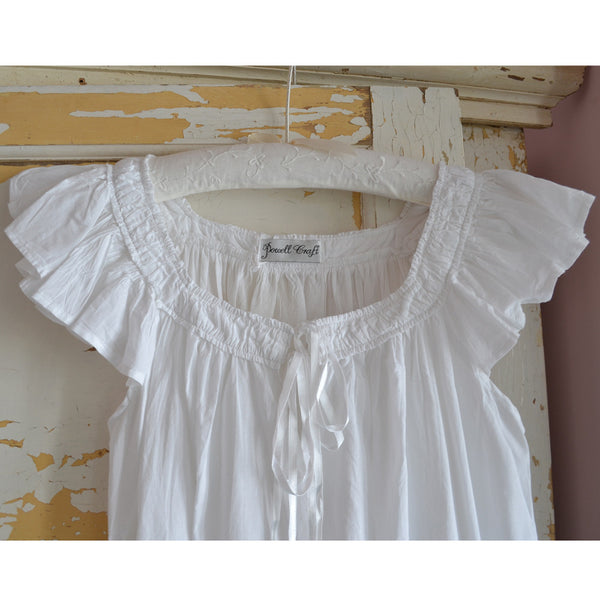 Margo Nightdress Capped Sleeves hanging