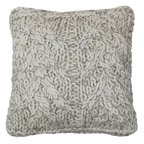 Knitted Cushion Off-white front