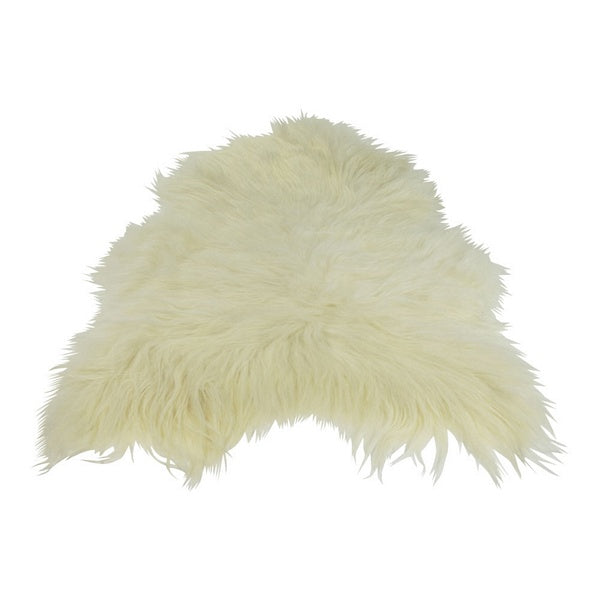 Sheepskin rug in white