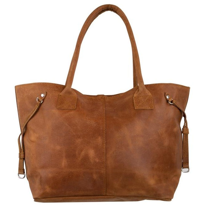 Mars & More Leather Handbag in Natural Cognac front