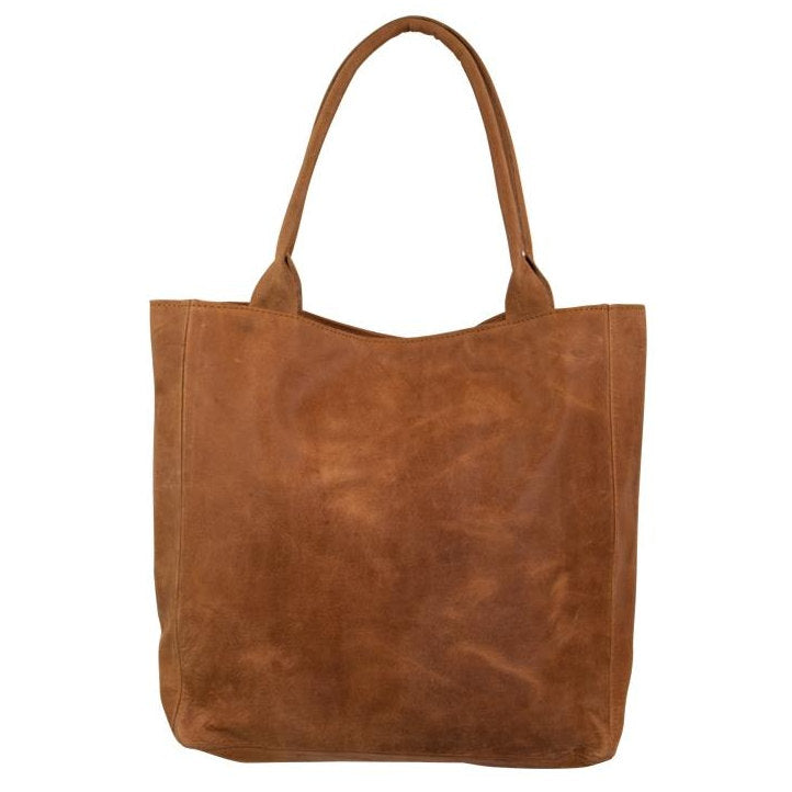 Mars & More Leather Shopper in Natural Cognac back