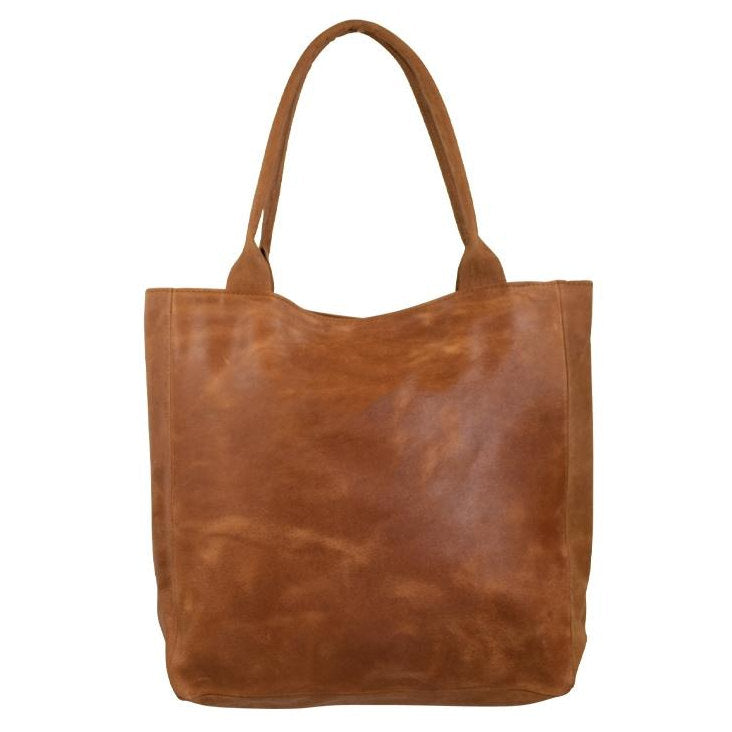 Mars & More Leather Shopper in Natural Cognac front
