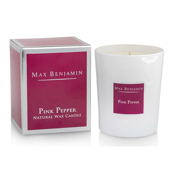 Max Benjamin Pink Pepper Candle with box