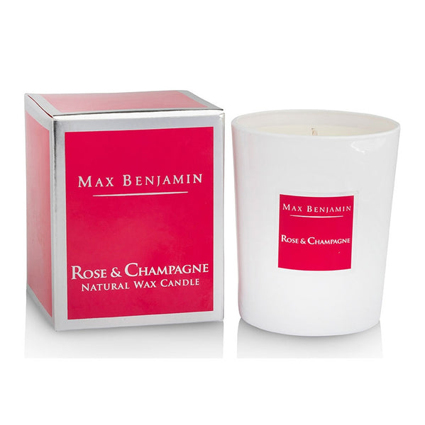 Max Benjamin Rose and Champagne Candle with box
