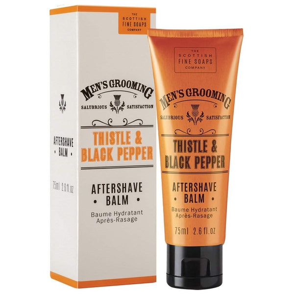 Scottish Fine Soaps Men's Grooming Aftershave Balm Thistle & Black Pepper