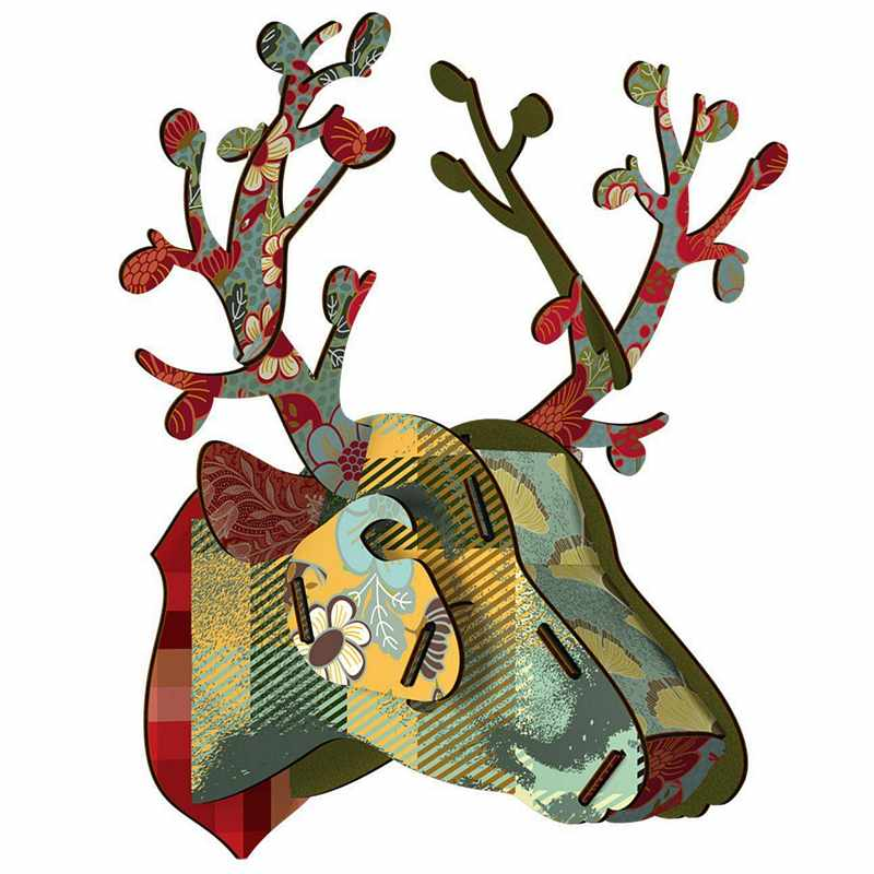 Miho Stags Head Trophy Deer Foliage