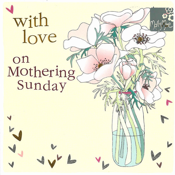 Mother's Day Card - With Love On Mothering Sunday