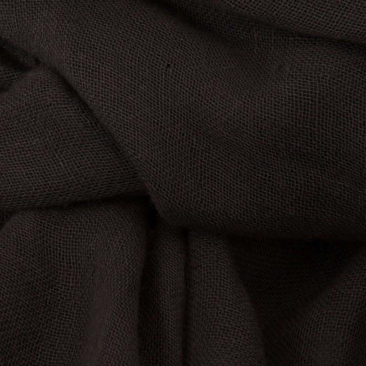 Muted Tones Gauze Scarf Charcoal MT058 detail