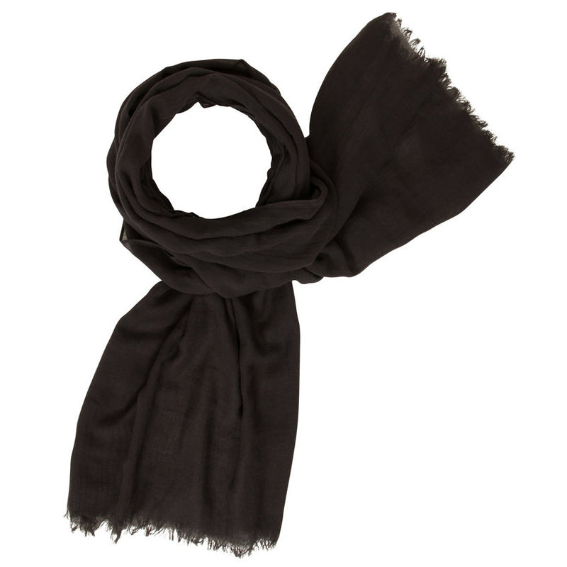 Muted Tones Gauze Scarf Charcoal MT058 looped