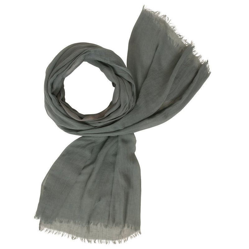 Muted Tones Gauze Scarf Slate MT058 looped