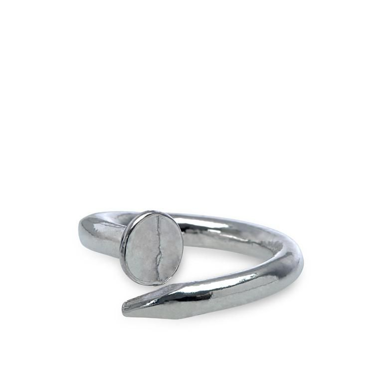 I Love a Lassie Jewellery Hard-Wear Sterling Silver Nail Ring