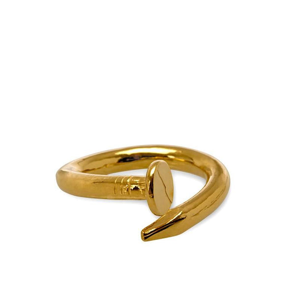 I Love a Lassie Jewellery Hard-Wear Yellow Gold Nail Ring