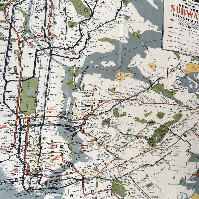 NYC Map Scarf - Grey details