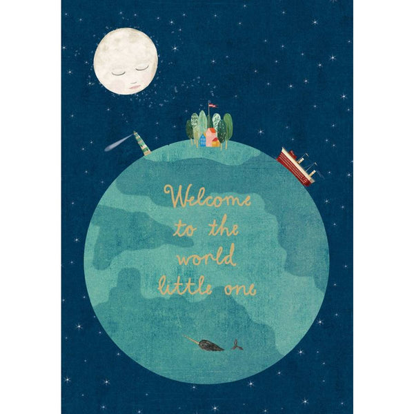 Night and Day Greeting Card - Welcome To The World GC2147