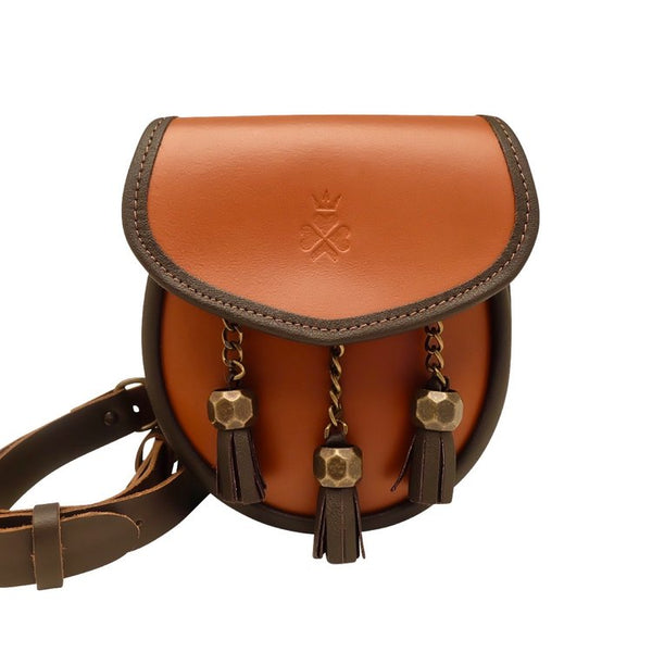 Nixey Sporran Handbag in Chestnut with Bronze Fittings main