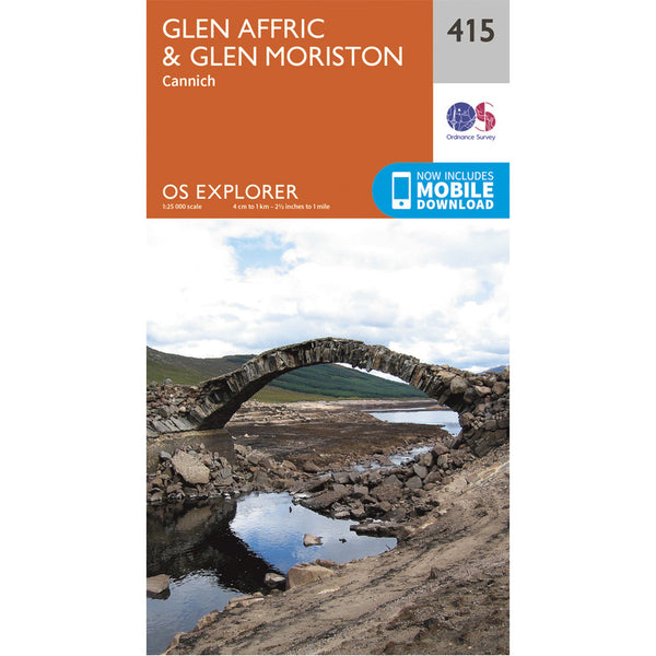 OS Explorer Map 415 - Glen Affric & Glen Moriston