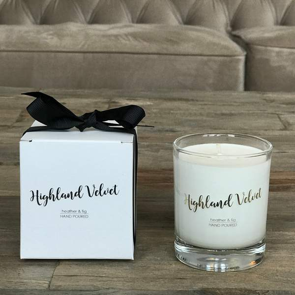 Old School Beauly Hand Poured Candle - Highland Velvet 20cl with gift box