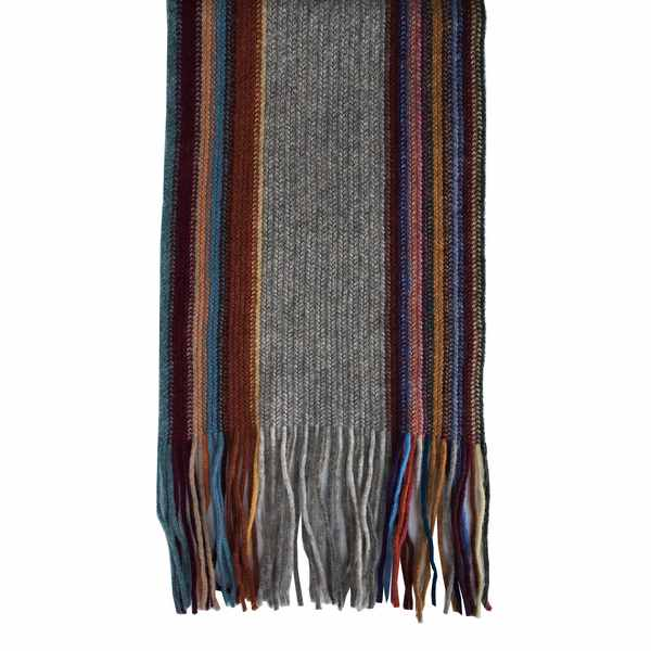 Old School Beauly Knitwear - Glen Affric Scarf with fringe