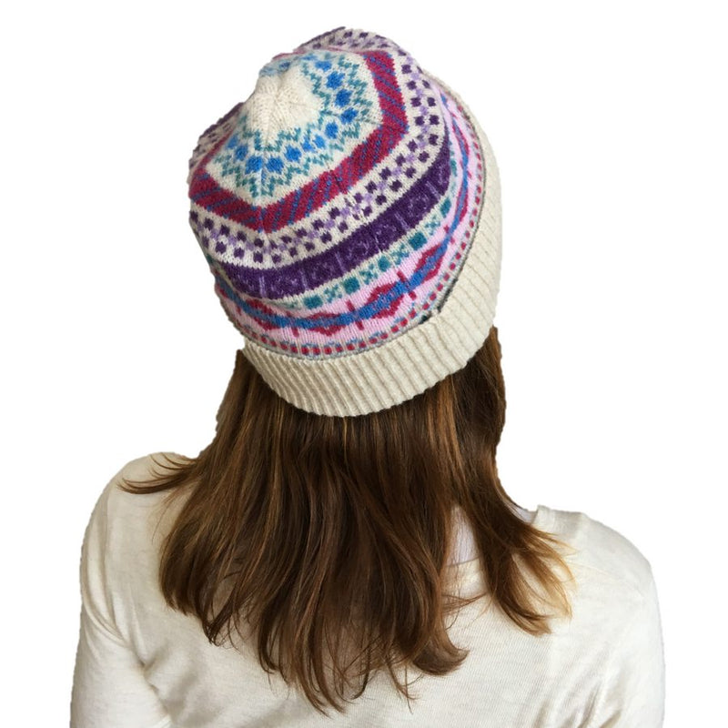Old School Beauly Knitwear - Beauly Hat on Model back