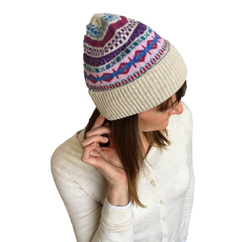 Old School Beauly Knitwear - Beauly Hat on Model side