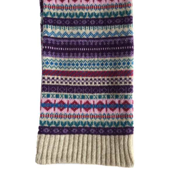Old School Beauly Knitwear - Beauly Scarf end