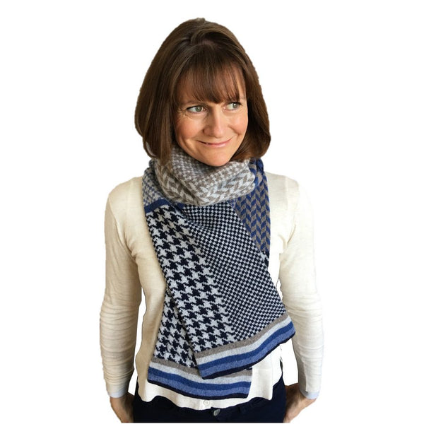 Old School Beauly Knitwear - Black Isle Scarf on Model