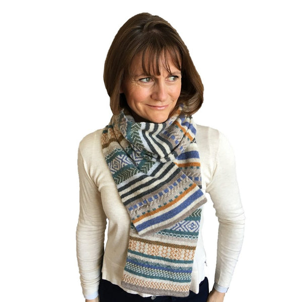 Old School Beauly Knitwear - Cromarty Scarf on Model