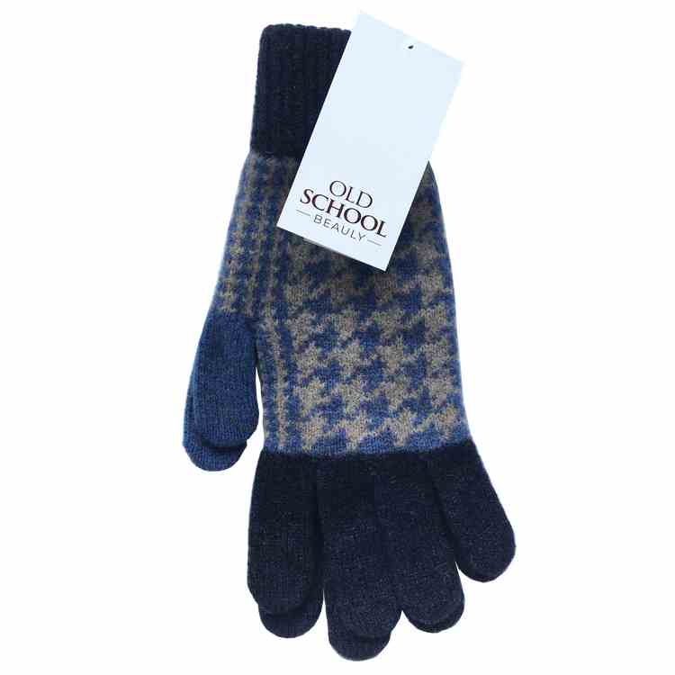 Old School Beauly Knitwear - Inverness Black Isle Gloves pair with tag
