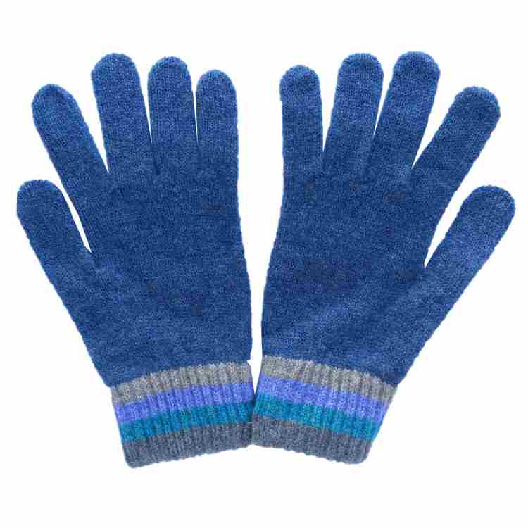 Old School Beauly Knitwear - Inverness Blue Skies Gloves pair