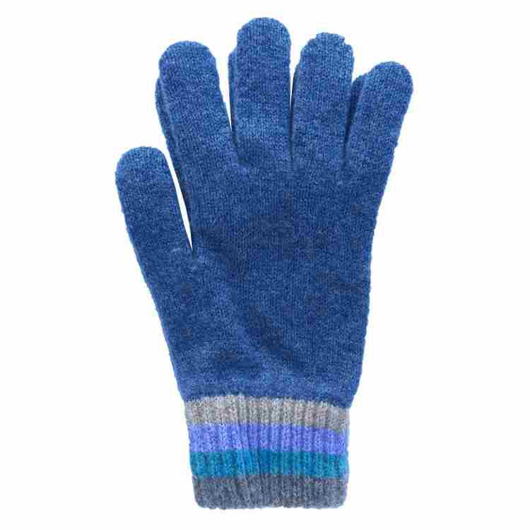 Old School Beauly Knitwear - Inverness Blue Skies Gloves