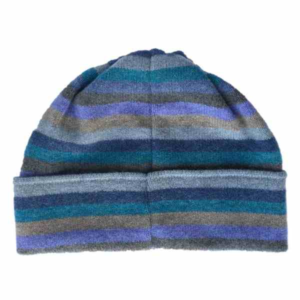 Old School Beauly Knitwear - Inverness Blue Skies Hat back
