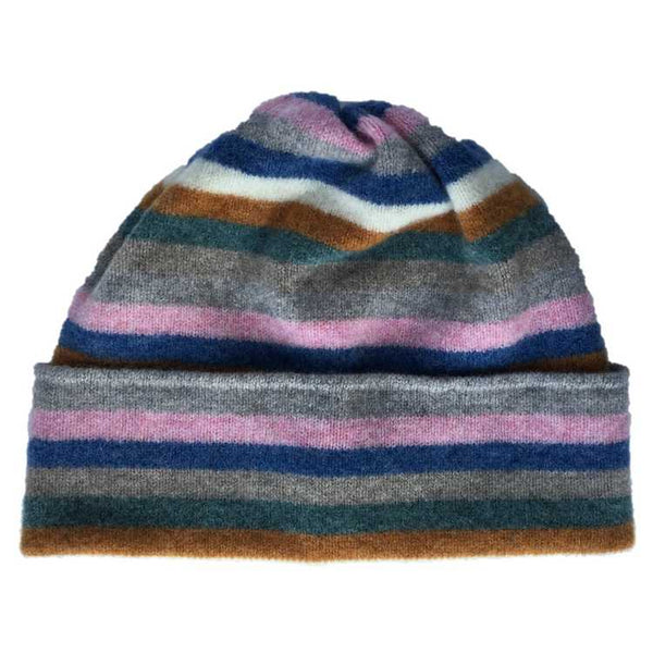 Old School Beauly Knitwear - Inverness Pink Skies Hat front