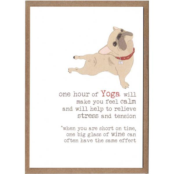 One Hour Of Yoga v One Big Glass Of Wine Card