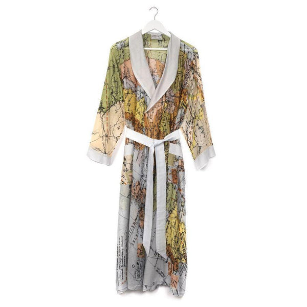 One Hundred Stars Europe Map Dressing Gown front