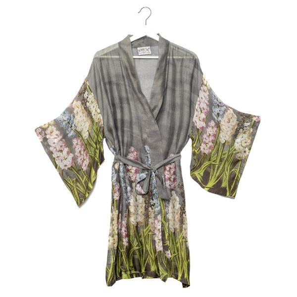 One Hundred Stars Hyacinth Boho Kimono front