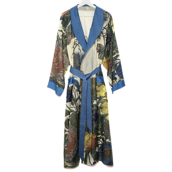 One Hundred Stars Kew Thistle Dressing Gown front