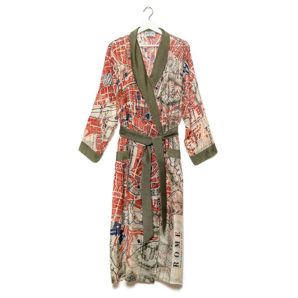 One Hundred Stars Rome Map Dressing Gown front