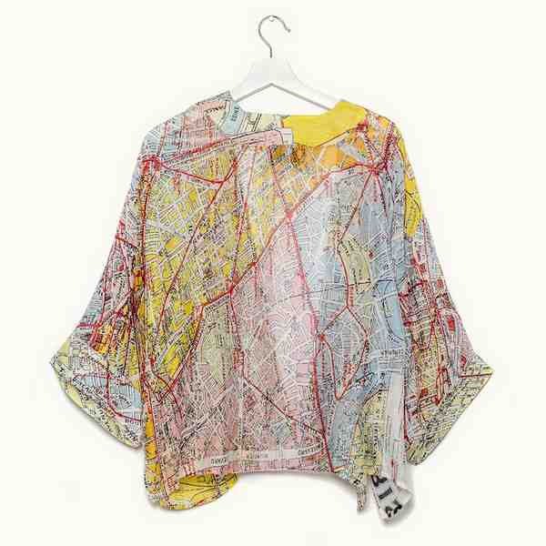 One Hundred Stars Valerie Paris Street Map Mini Kimono back