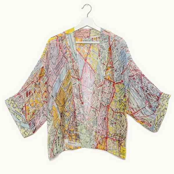 One Hundred Stars Valerie Paris Street Map Mini Kimono front