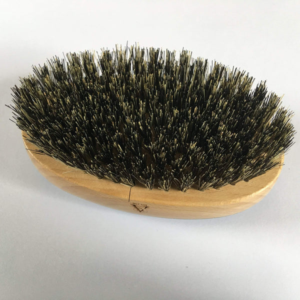 Oval oxhorn hairbrush bristles