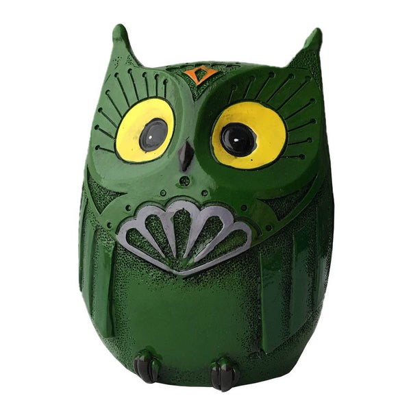 Owl Money Bank Green front