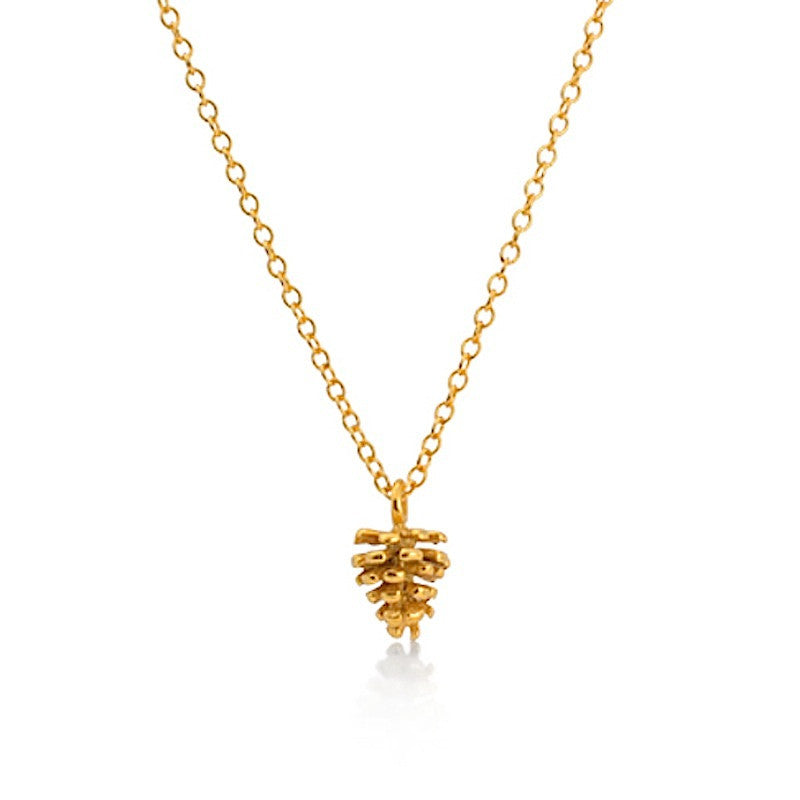 I Love A Lassie Jewellery Bird's Nest Yellow Gold Pine Cone Necklace