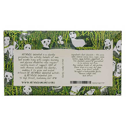 Panda Party Handmade Dark Chocolate Infused With Mint Oil back