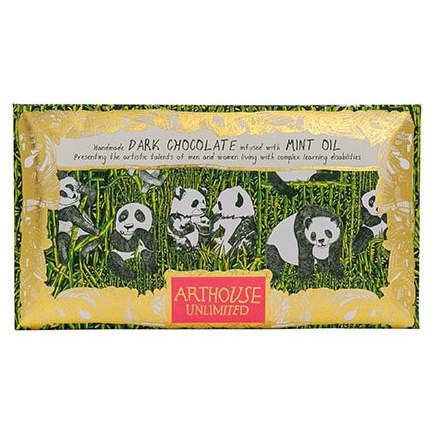 Panda Party Handmade Dark Chocolate Infused With Mint Oil front