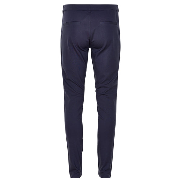 Ananna Faux Leather Trouser Blue Graphite back