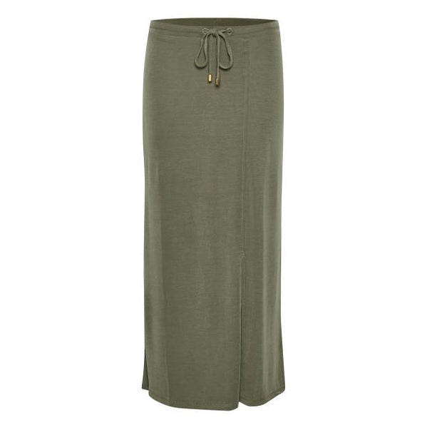 Part Two Clothing Lallys Skirt in Dusty Olive front