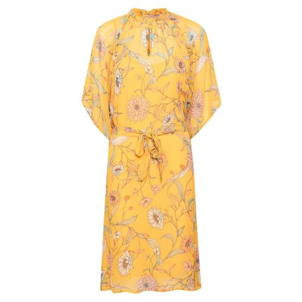 Part Two Clothing Roxy Dress Artwork Medium Yellow 30304148-31915 front