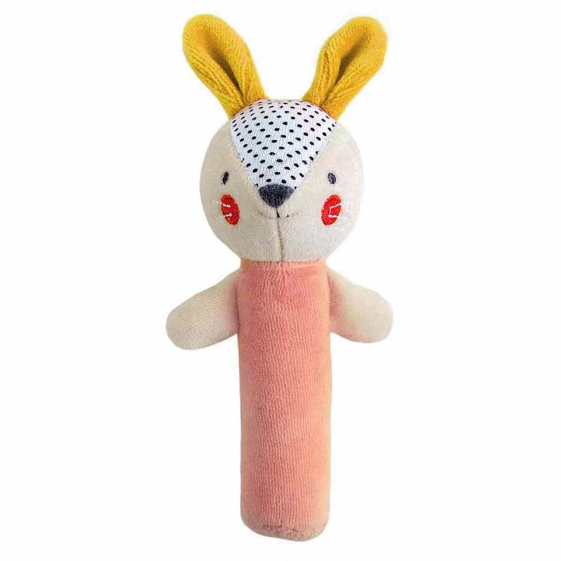 Petit Collage Organic Bunny Squeaker Rattle front