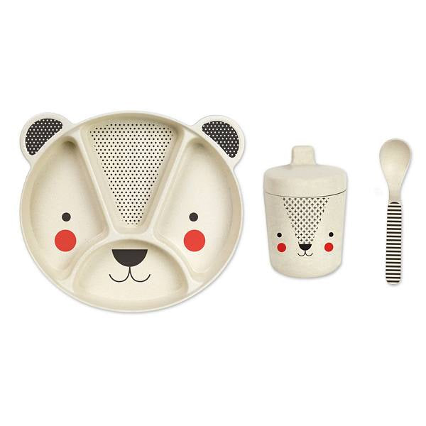Petit Collage Bear Bamboo Baby Dinnerware Set
