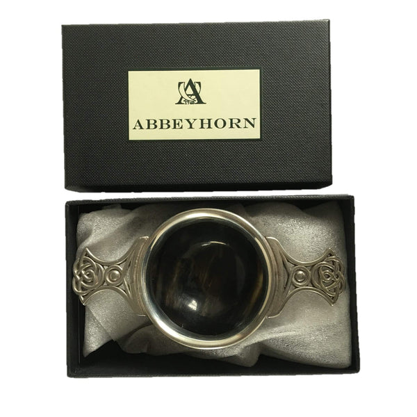 Pewter & Horn Quaich small boxed